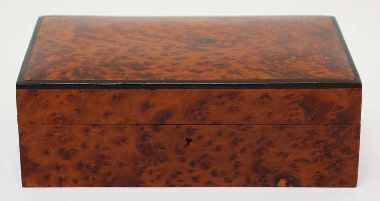 Moroccan Handcrafted Thuya Wood Jewelry Box For Sale 7