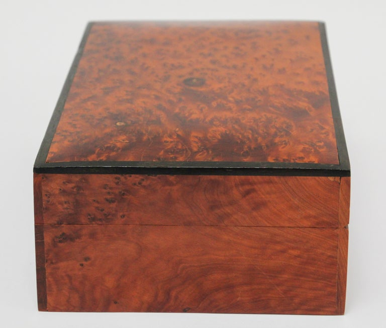 Hand-Crafted Moroccan Handcrafted Thuya Wood Jewelry Box For Sale