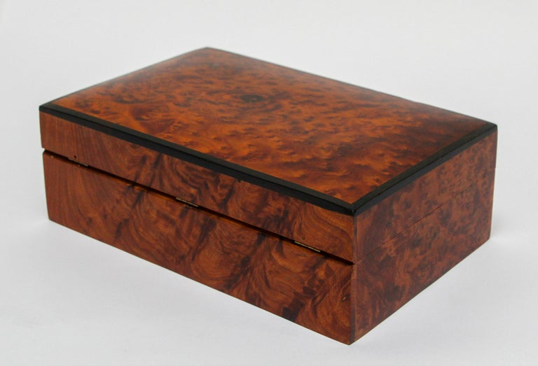 Moroccan Handcrafted Thuya Wood Jewelry Box For Sale 2