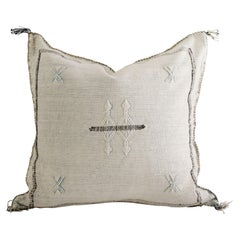 Moroccan Handwoven Authentic Cactus Silk Pillow