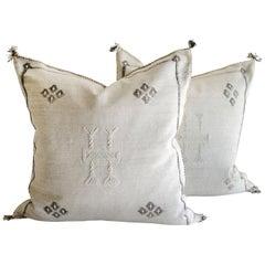 Moroccan Handwoven Cactus Silk Pillow Cover