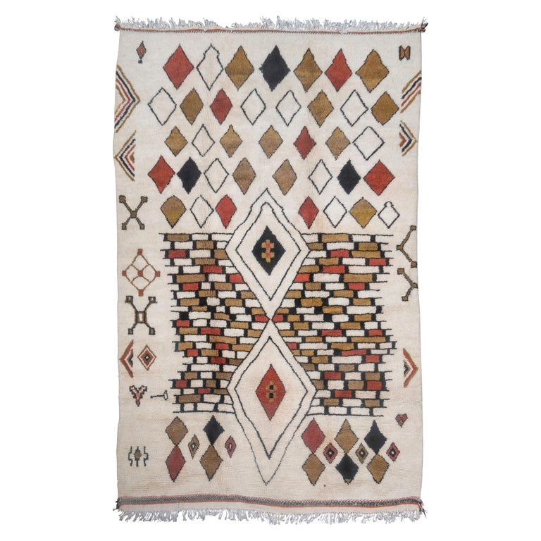 Moroccan rug, new, designed 2018, offered by Creel and Gow