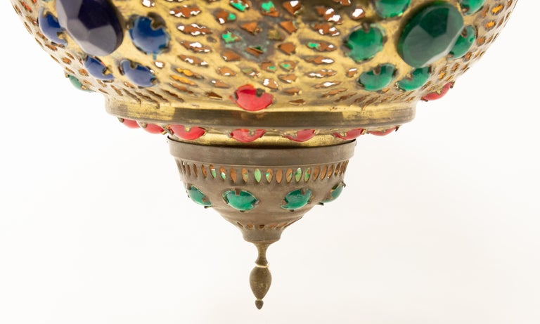 Moroccan Hanging Lamp In Fair Condition For Sale In Cookeville, TN