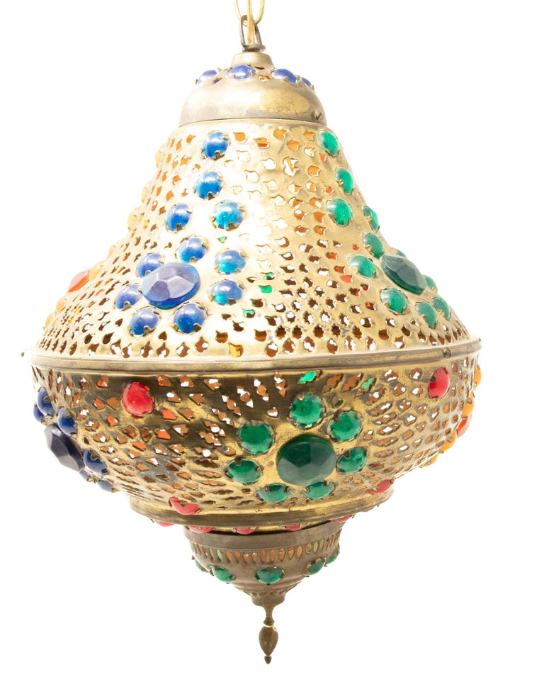 20th Century Moroccan Hanging Lamp For Sale