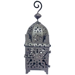 Moroccan Hurricane Metal Candle Lantern Indoor or Outdoor
