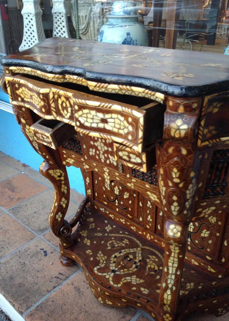Moroccan Inlaid Console For Sale 4