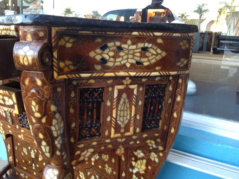 Moroccan Inlaid Console For Sale 6