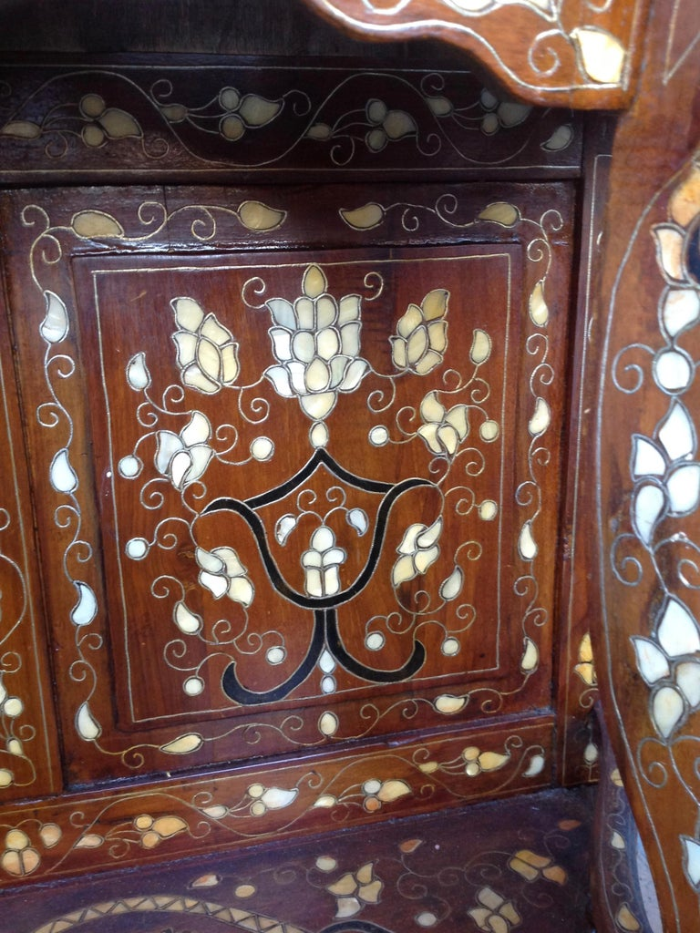 20th Century Moroccan Inlaid Console For Sale