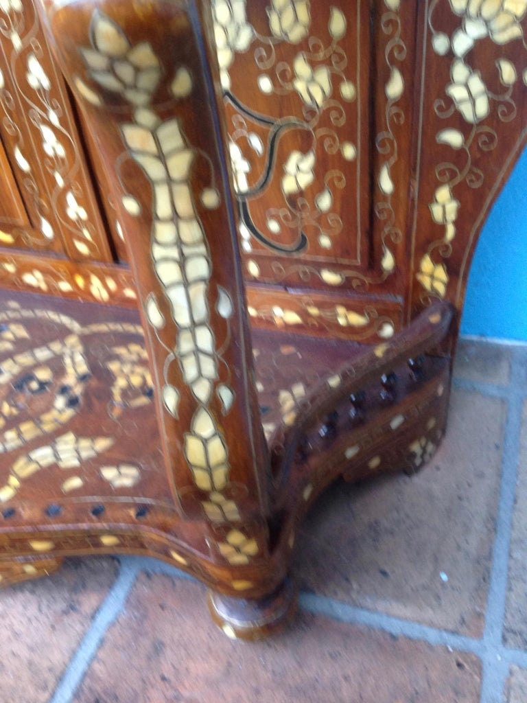 Bone Moroccan Inlaid Console For Sale