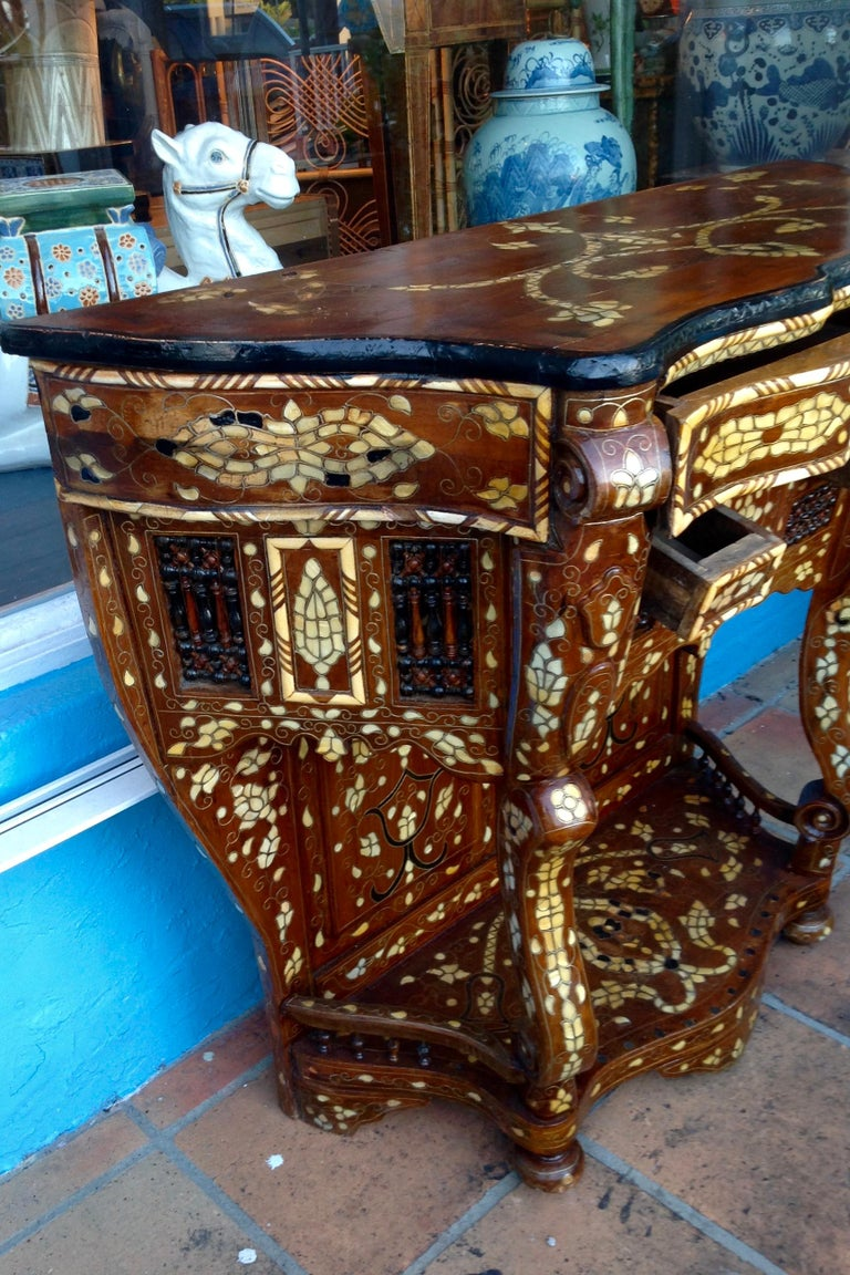 Moroccan Inlaid Console For Sale 1