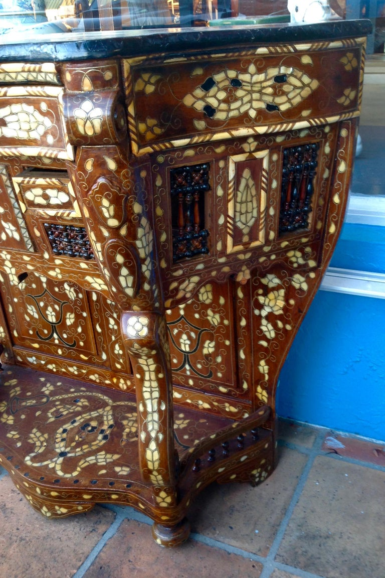 Moroccan Inlaid Console For Sale 2
