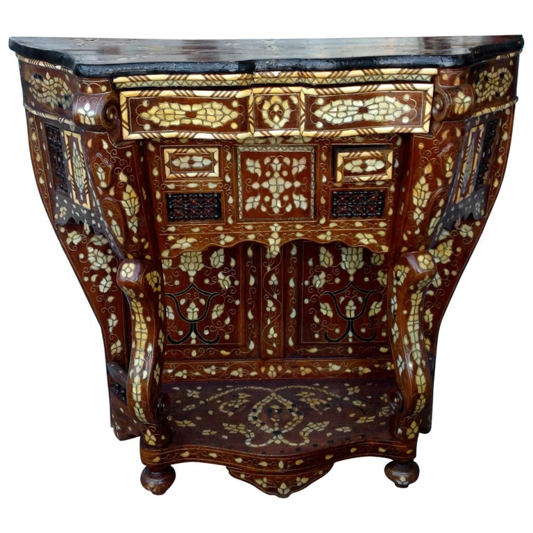 Moroccan Inlaid Console For Sale