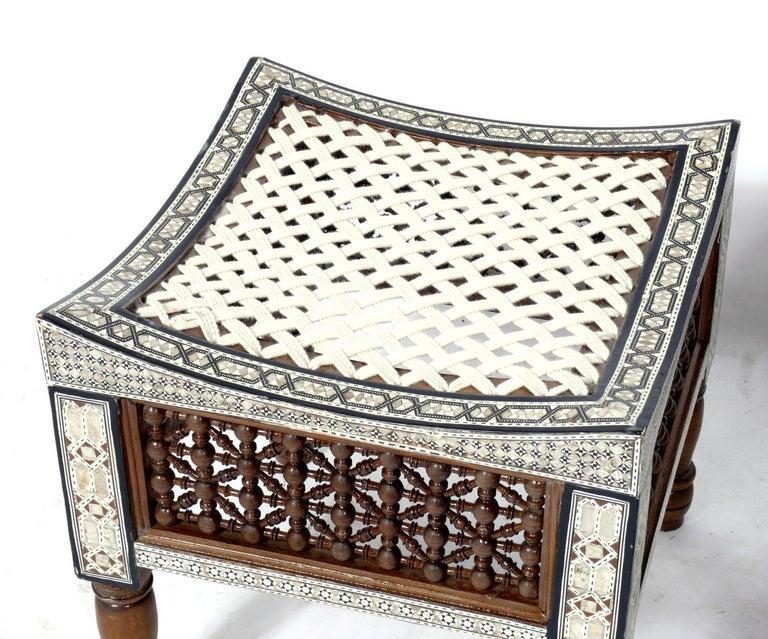 Moorish Moroccan Inlaid Stools For Sale