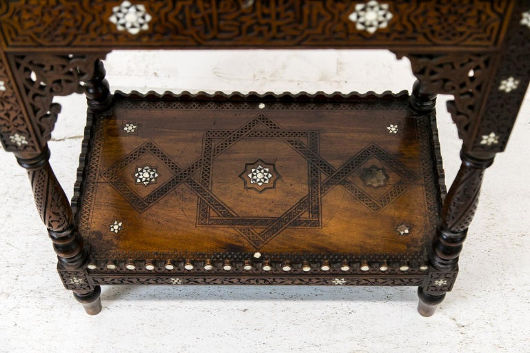 Moroccan Inlaid Vitrine In Good Condition For Sale In Wilson, NC