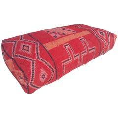 Moroccan Kilim Pouf or Ottoman, Double Size, LM 4