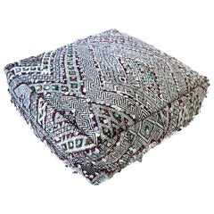 Moroccan Kilim Pouf  Ottoman from Morocco