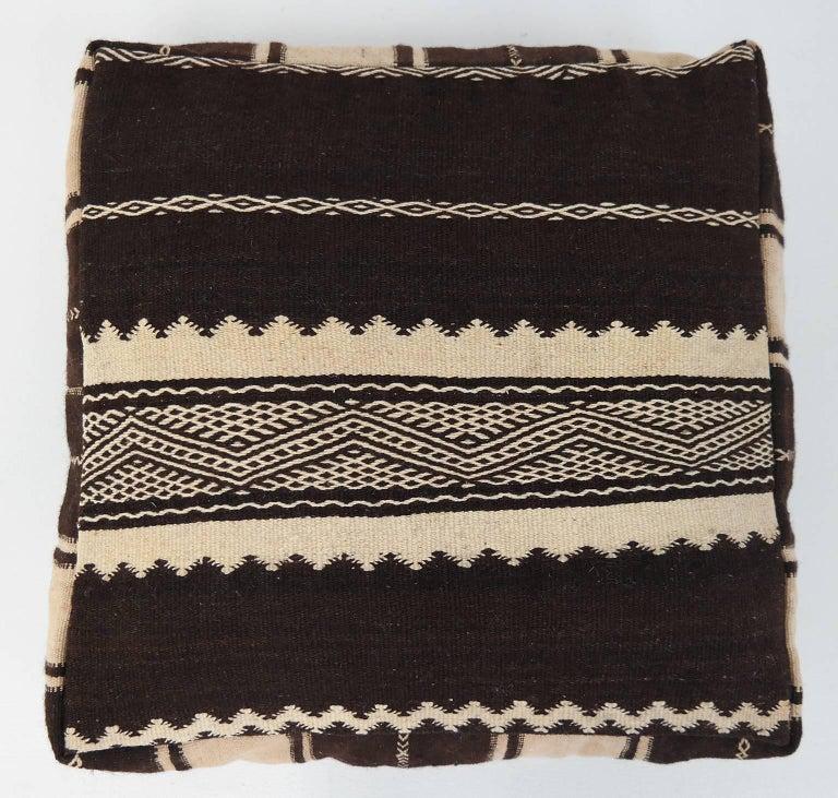 Moroccan Kilim Pouf Vintage Ottoman Wool Morocco Floor