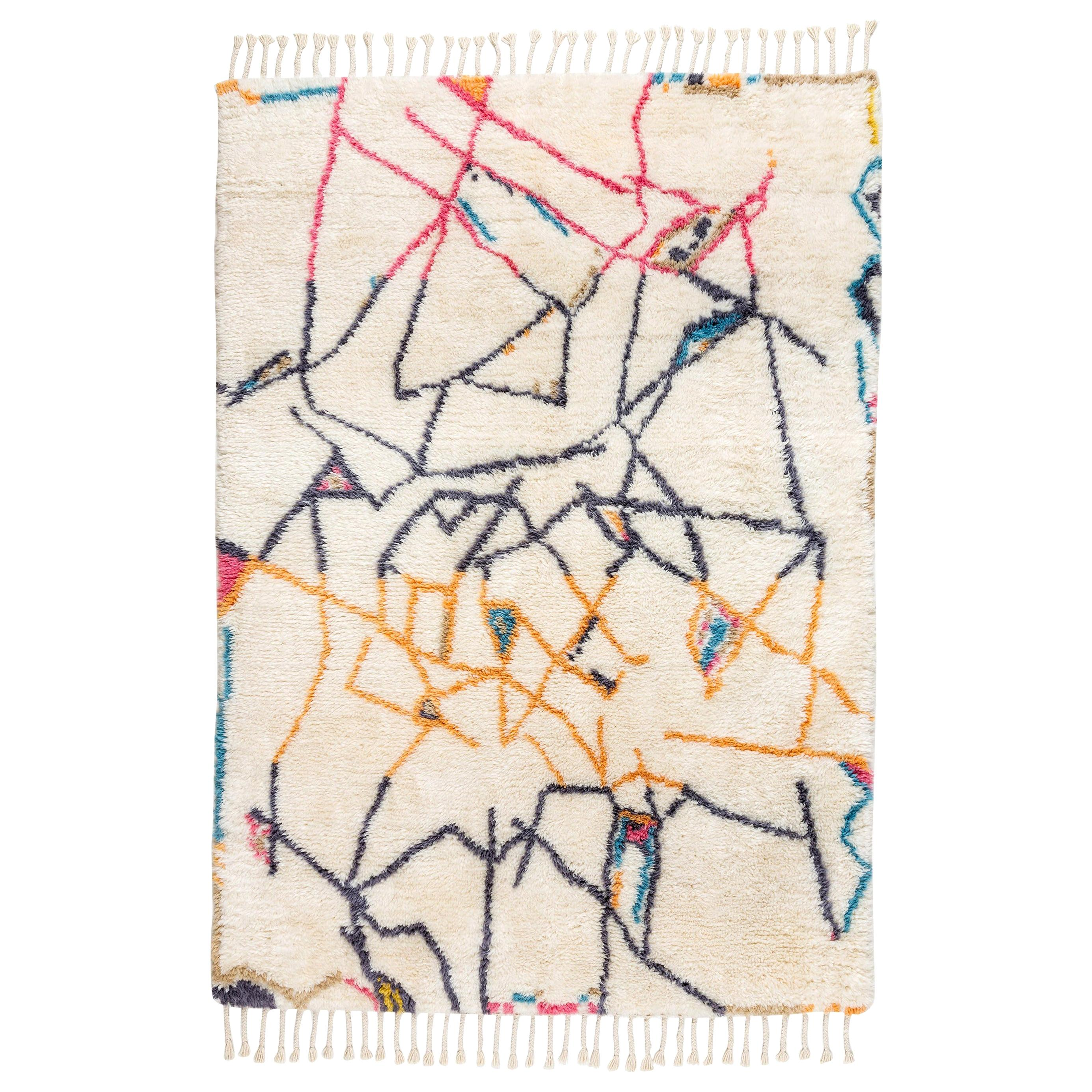 """Moroccan Inspired Knot Rug Limited Edition """"Positions"""" by Johanna Boccardo"""