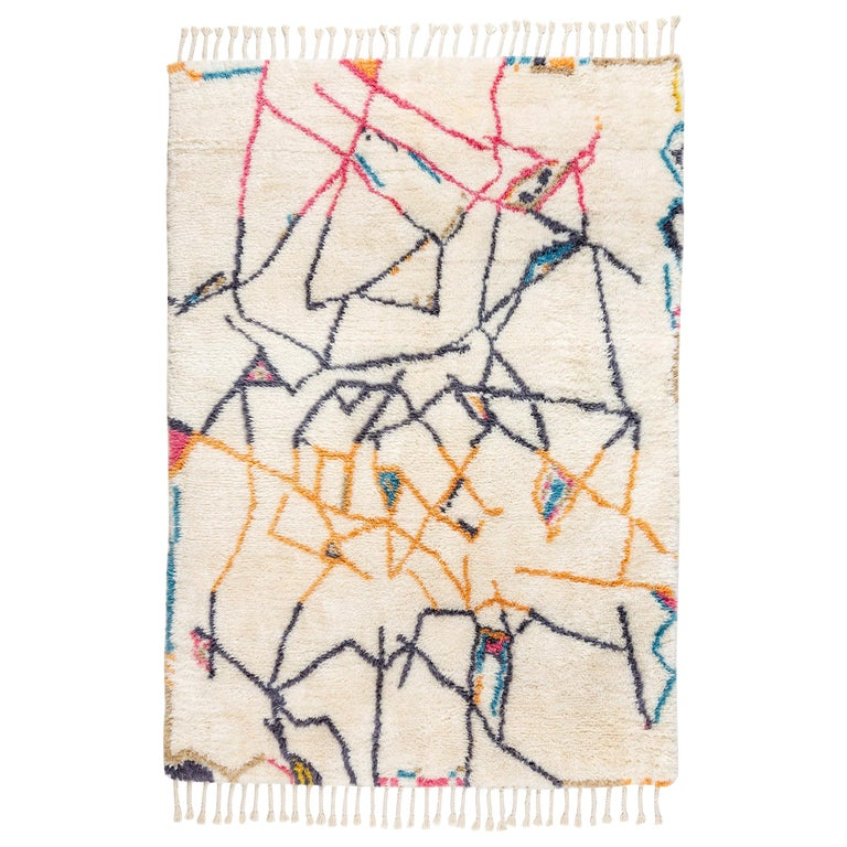 "Moroccan Inspired Knot Rug Limited Edition ""Positions"" by Johanna Boccardo For Sale"