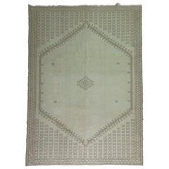 Moroccan Large Khaki Brown Blush 20th Century Wool Rug