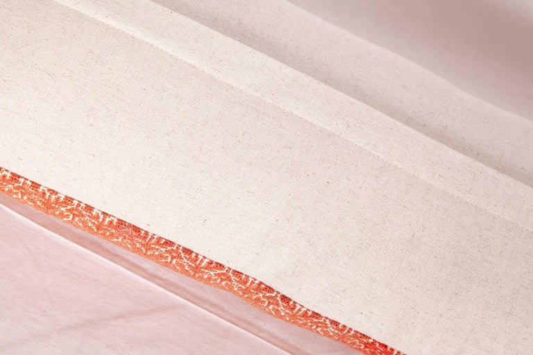 Silk Moroccan Lumbar Pillow Case Fashioned from a Fez Embroidery, Early 20th Century For Sale