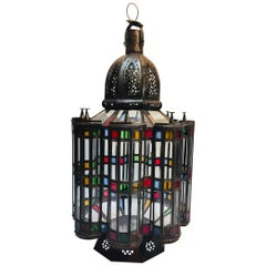 Moroccan Mamounia Moorish Glass Lantern