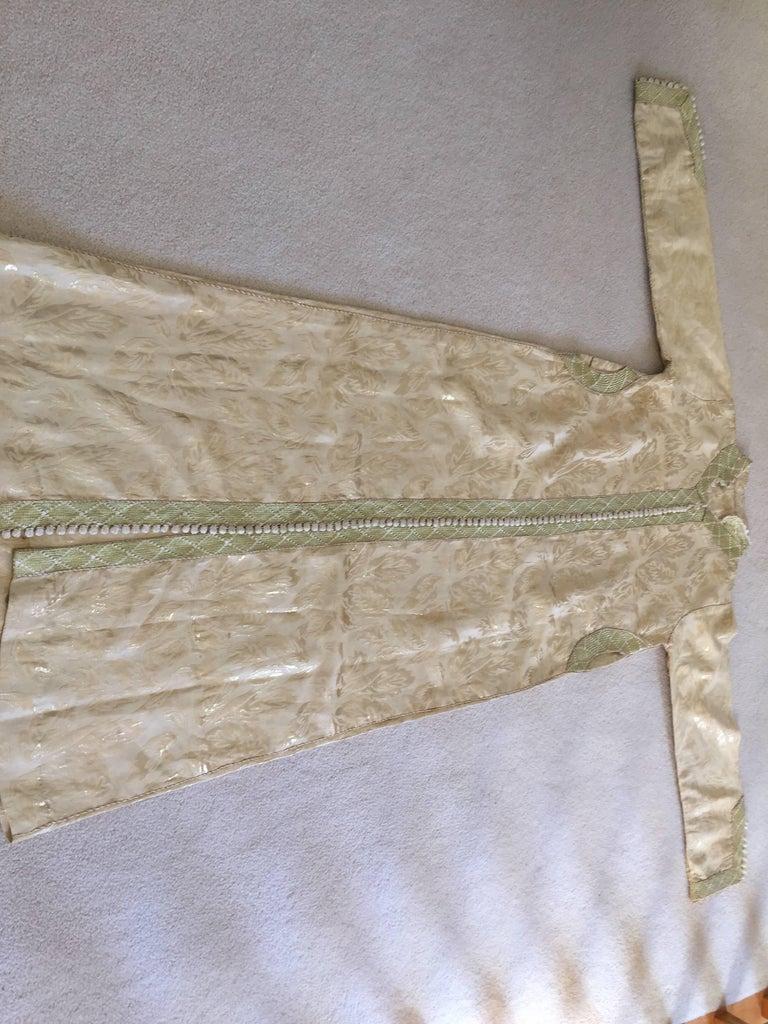 Moroccan Metallic Gold Brocade Kaftan, Maxi Dress Kaftan from Morocco, Africa For Sale 3
