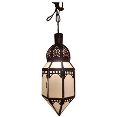 Moroccan Milk Glass Lantern