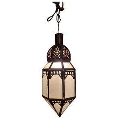 Moroccan Milk Glass Lantern