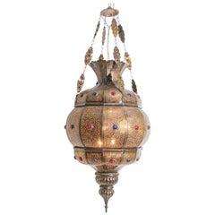 Moroccan Moorish Brass Chandelier