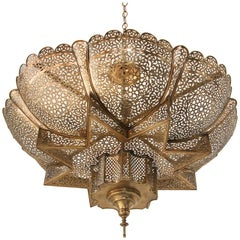 Moroccan Moorish Brass Alhambra Chandelier