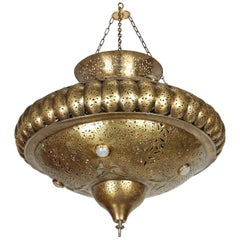 Moroccan Moorish Brass Pendant in Alberto Pinto Style