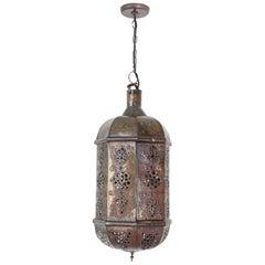 Moroccan Moorish Handcrafted Metal Lantern Pendant