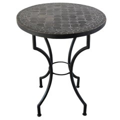 Moroccan Mosaic Black Color Bistro Table
