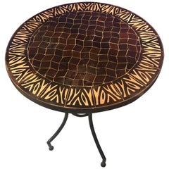 Moroccan Mosaic Brown Tile Bistro Table