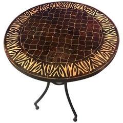 Moroccan Mosaic Brown Tile Bistro Table