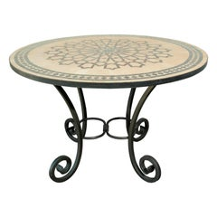 Moroccan Mosaic Outdoor Tile Table in Fez Moorish Design