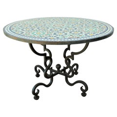 Moroccan Mosaic Patio Table in Fez Moorish Design