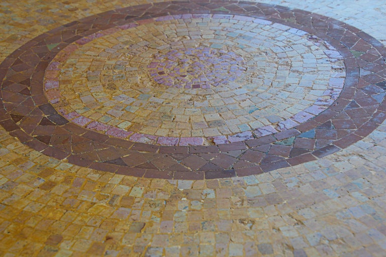 Moroccan Mosaic Stone Table Indoor or Outdoor For Sale 4