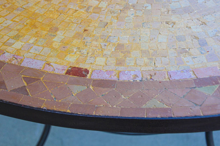 Moroccan Mosaic Stone Table Indoor or Outdoor For Sale 8