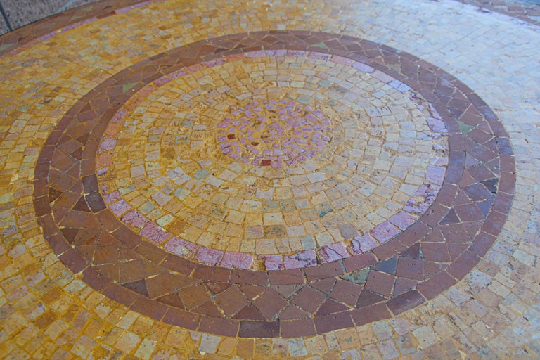 Moroccan Mosaic Stone Table Indoor or Outdoor For Sale 10