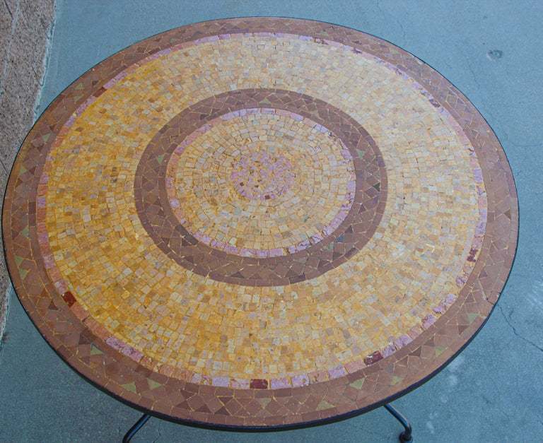 Moroccan Mosaic Stone Table Indoor or Outdoor For Sale 11