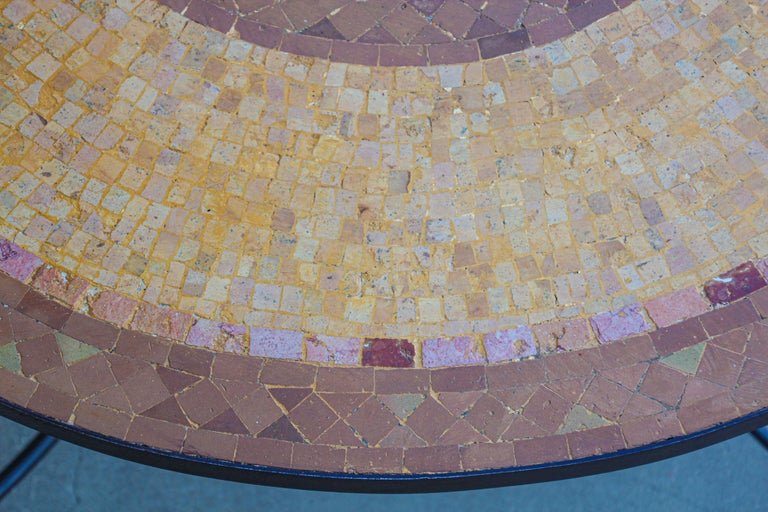 Moroccan Mosaic Stone Table Indoor or Outdoor For Sale 12