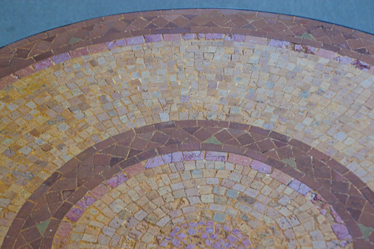 Moroccan Mosaic Stone Table Indoor or Outdoor For Sale 13