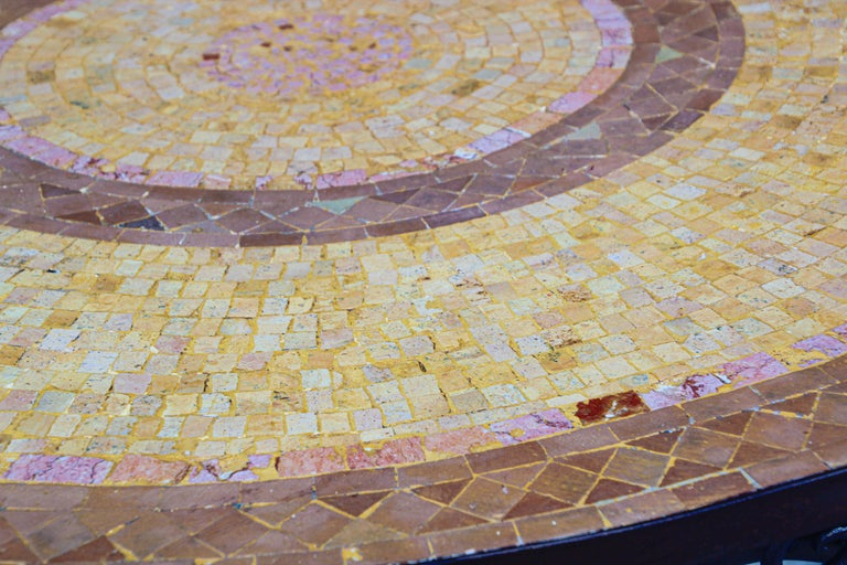Moroccan Mosaic Stone Table Indoor or Outdoor In Good Condition For Sale In North Hollywood, CA