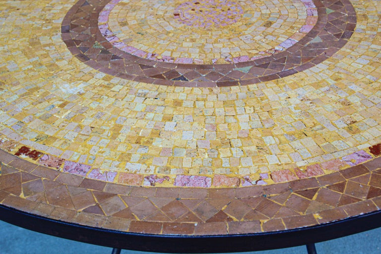 Moroccan Mosaic Stone Table Indoor or Outdoor For Sale 1