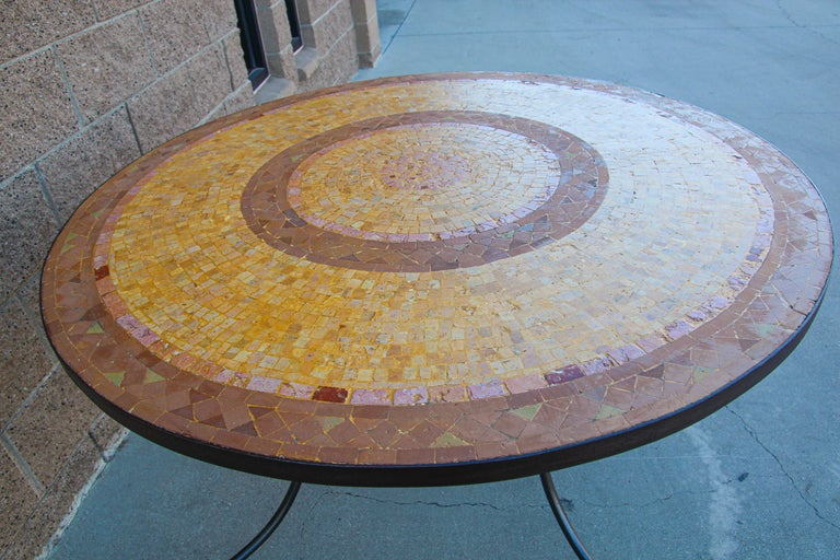 Moroccan Mosaic Stone Table Indoor or Outdoor For Sale 3