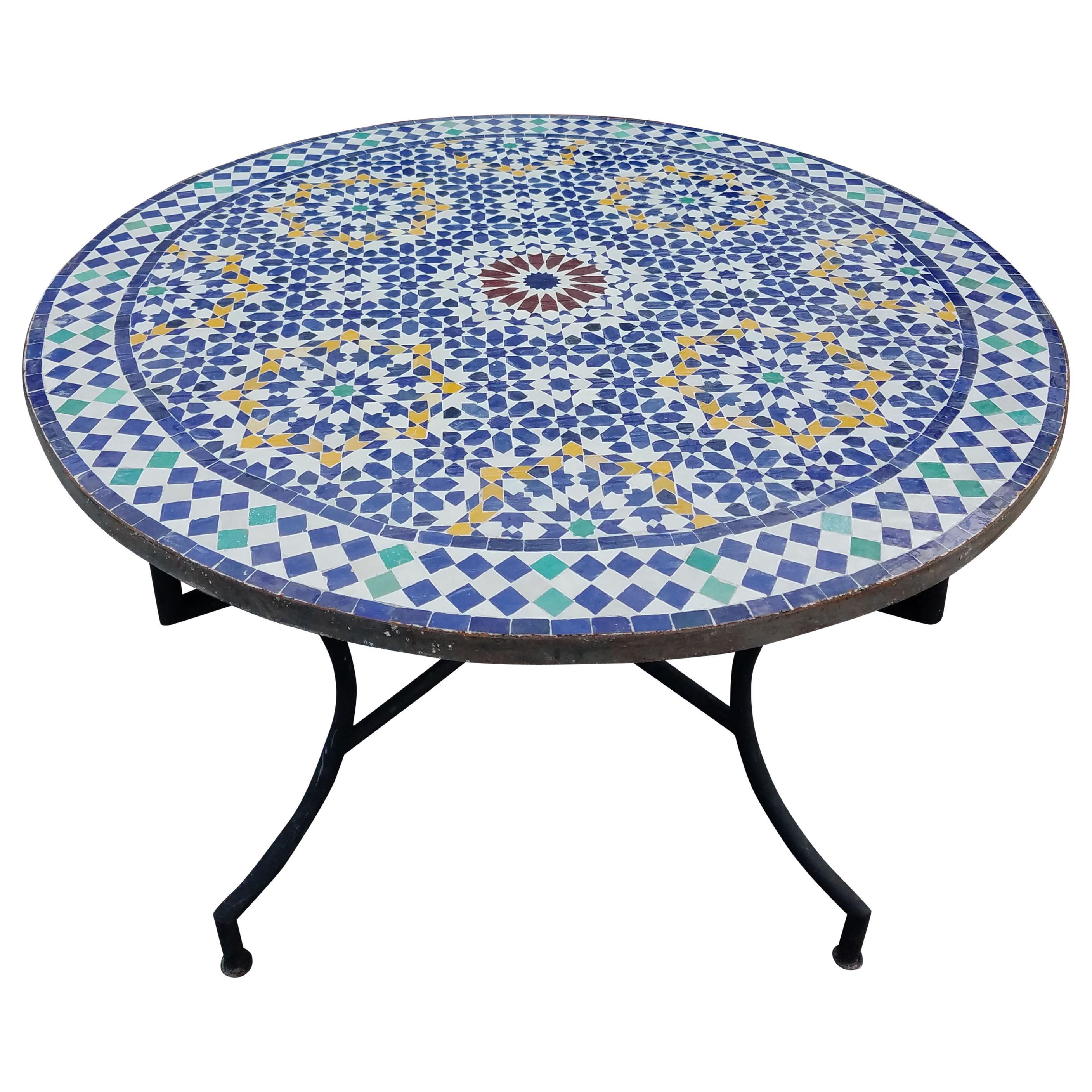 Moroccan Mosaic Table Multi Color Beldia Zina