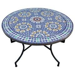 Moroccan Mosaic Table, Multi-Color Beldia Dina