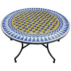 Moroccan Mosaic Table Multicolor Low / High Base Included